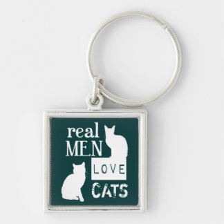 Real Men Love Cats (available in all colours) Key Ring