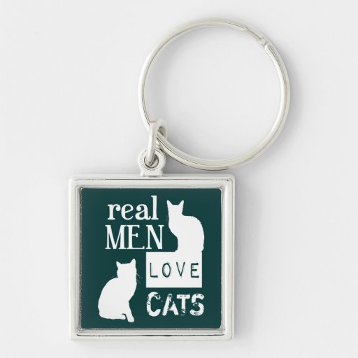 Real Men Love Cats (available in all colours) Keychains