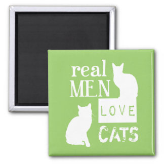 Real Men Love Cats (available in all colours) Square Magnet
