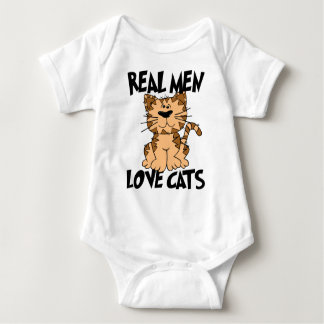 Real Men Love Cats Baby Bodysuit