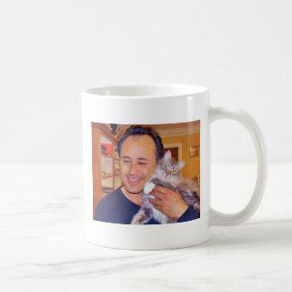 Real men LOVE cats! Basic White Mug