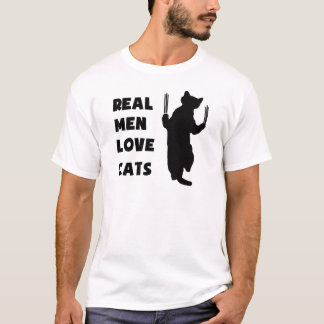 Real Men Love Cats (black) T-Shirt
