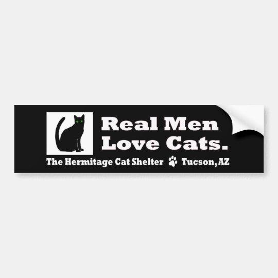 Real Men Love Cats- Bumper Sticker