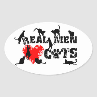 Real men love cats, cats have 9 lives stickers