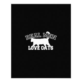 Real Men Love Cats 11.5 Cm X 14 Cm Flyer