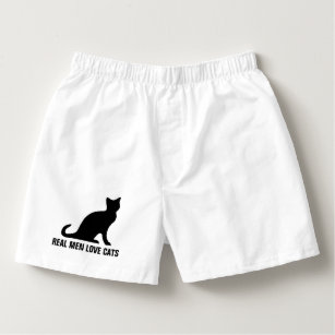 f275f5e2322d Real men love cats funny boxer shorts underwear boxers