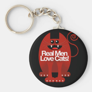 REAL MEN LOVE CATS KEY RING