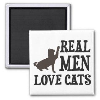 Real Men Love Cats Fridge Magnet