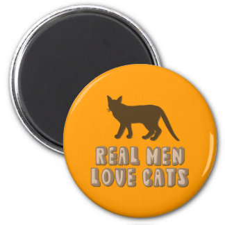 Real Men Love Cats Magnet