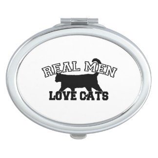 Real Men Love Cats Mirrors For Makeup