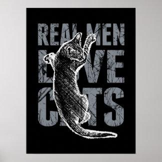 Real Men Love Cats Print
