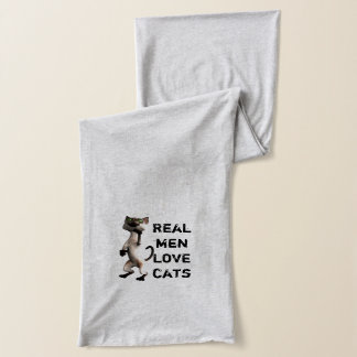 Real men love cats scaf scarf