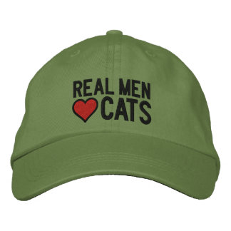Real Men Love Cats Stitches Embroidered Cap
