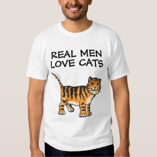 Real men love cats, T-shirts, orange tabby Tshirt