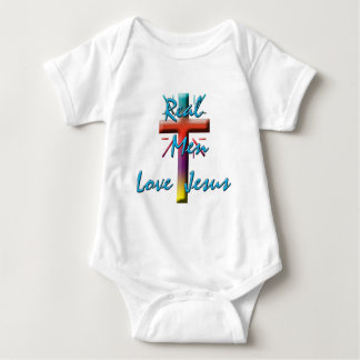 REAL MEN LOVE JESUS BABY BODYSUIT