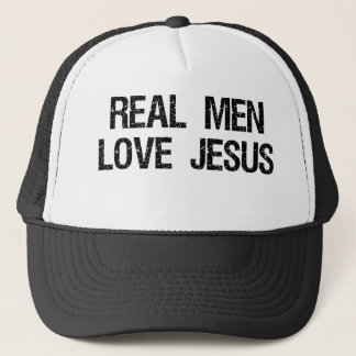 Real Men Love Jesus Trucker Hat