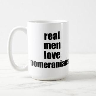 Real Men Love Pomeranians Coffee Mugs