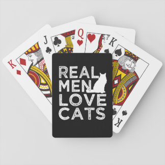 Real Men loves cats funny playing cards