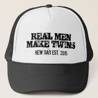 Real men make twins trucker hat for new dad father