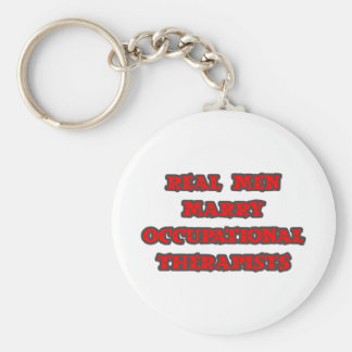 Real Men Marry Occupational Therapists Basic Round Button Key Ring