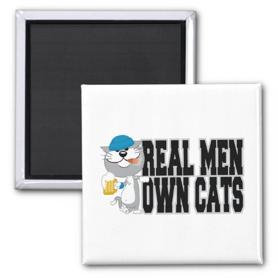 Real Men Own Cats Magnet