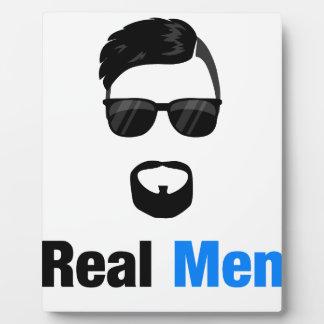 Real Men Plaque