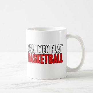 Real Men Play Basketball Coffee Mug