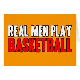 Real Men Play Basketball Greeting Card