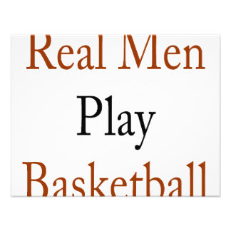 Real Men Play Basketball Invites