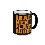 Real Men Play Rugby Coffee Mugs