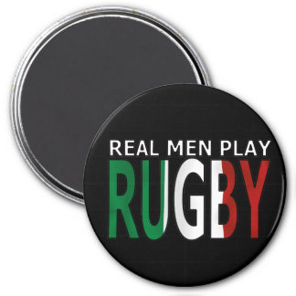 Real Men Play Rugby Italy 7.5 Cm Round Magnet