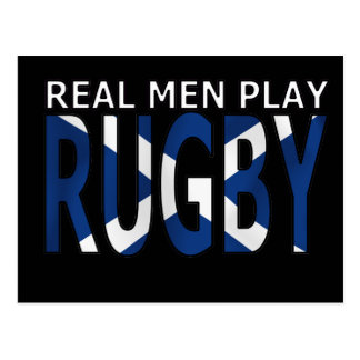 Real Men play Rugby Scotland Postcard