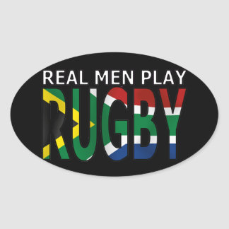 Real Men play Rugby South Africa Stickers