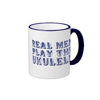 REAL MEN PLAY THE UKULELE mug