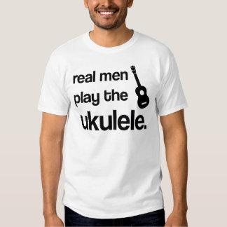 REAL MEN PLAY THE UKULELE TSHIRTS