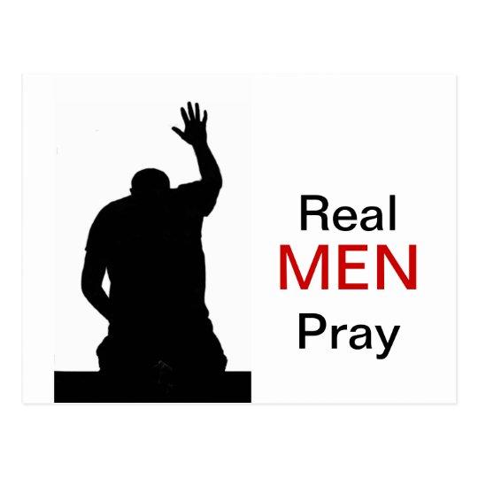 Real Men Pray Postcard