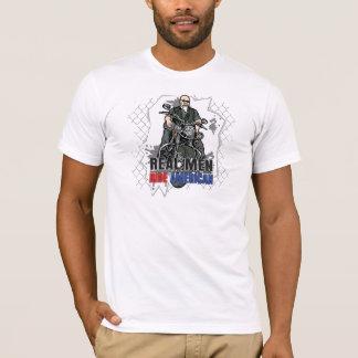 Real Men Ride American Destroyed T-shirt for Biker