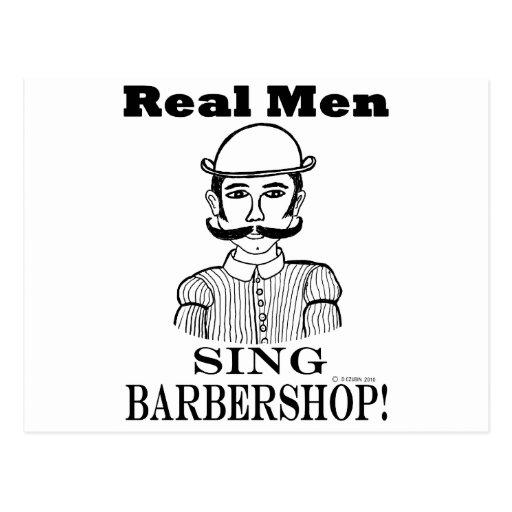 Real Men Sing Barbershop! Postcard