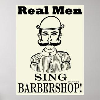 Real Men Sing Barbershop Poster