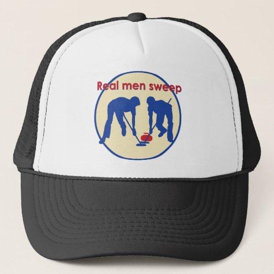 Real Men Sweep! Curling Trucker Hat