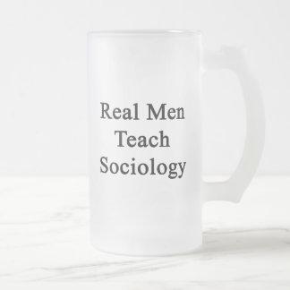 Real Men Teach Sociology Beer Mugs