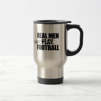 Real Men Watch Football Coffee Mugs