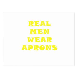 Real Men Wear Aprons Post Card