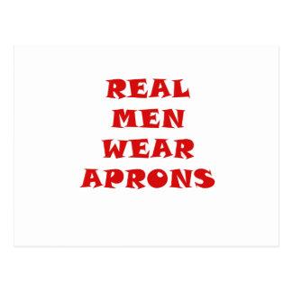 Real Men Wear Aprons Postcard