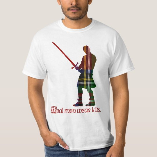 Real Men Wear Kilts Royal Stewart Scottish Tartan