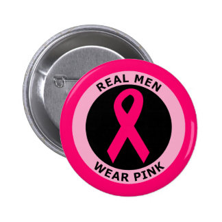 REAL MEN WEAR PINK 6 CM ROUND BADGE