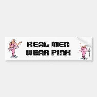 Real Men Wear Pink Funny Fat Guy Ballet Bumper Sticker