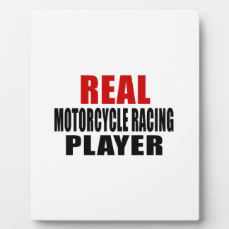REAL MOTORCYCLE RACING PLAQUE