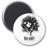 Real Natural Beauty 6 Cm Round Magnet