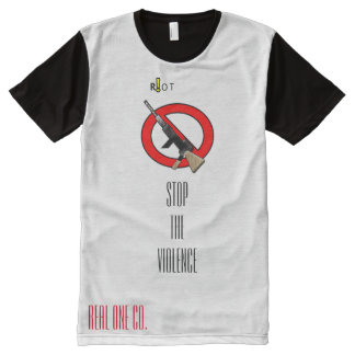 Real One CO. Stop the Violence All-Over Print T-Shirt